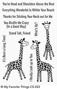 My Favorite Things PLAYFUL GIRAFFES Clear Stamps CS333