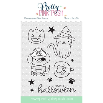 Pretty Pink Posh HALLOWEEN PALS Clear Stamps