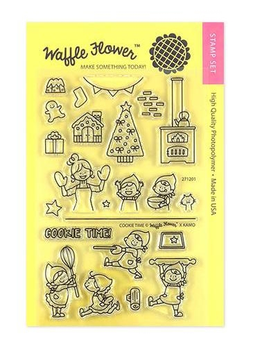 Waffle Flower COOKIE TIME Clear Stamps 271201 Preview Image