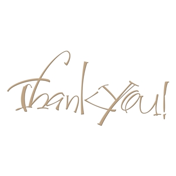 GLP 024 Spellbinders THANK YOU Glimmer Hot Foil Plate*