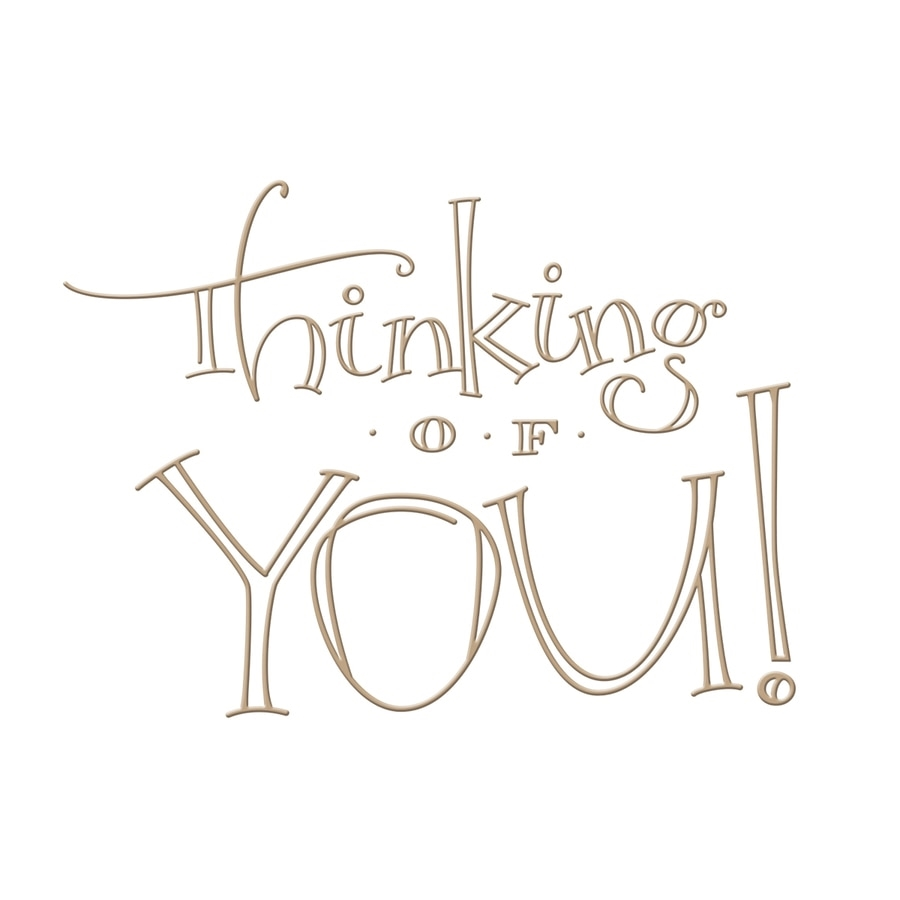 GLP-021 Spellbinders FAUX SCRIPT THINKING OF YOU Glimmer Hot Foil Plate* zoom image