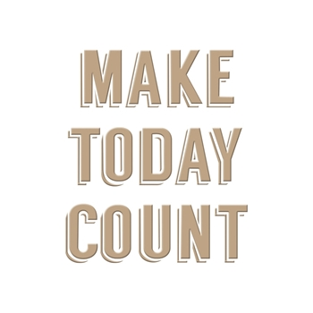 GLP-010 Spellbinders MAKE TODAY COUNT Glimmer Hot Foil Plate