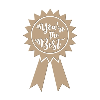 GLP-005 Spellbinders YOU'RE THE BEST Glimmer Hot Foil Plate