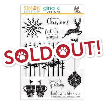 Gina K Designs Clear Stamps JOY OF THE SEASON sss101919 STAMPtember Exclusive