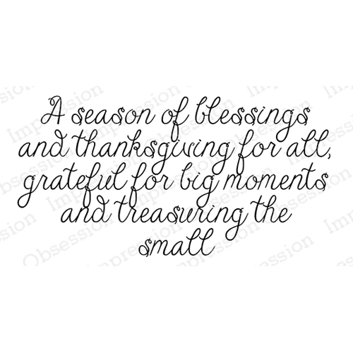Impression Obsession Cling Stamp A SEASON OF BLESSING D20572 Preview Image