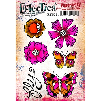 Paper Artsy ECLECTICA3 TRACY SCOTT 22 Cling Stamp ets22