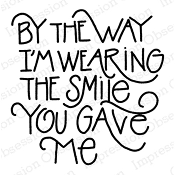 Impression Obsession Cling Stamp THE SMILE D21121