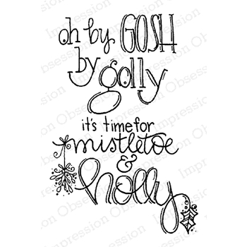 Impression Obsession Cling Stamp BY GOSH BY GOLLY E19878 *