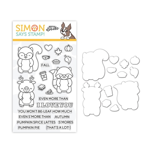 Heffy Doodle Clear Stamp and Die Set MORE THAN S'MORES SR18SETHD STAMPtember Exclusive Preview Image