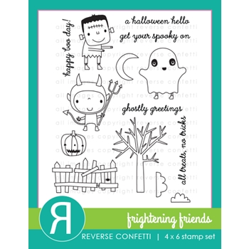 Reverse Confetti FRIGHTENING FRIENDS Clear Stamps*