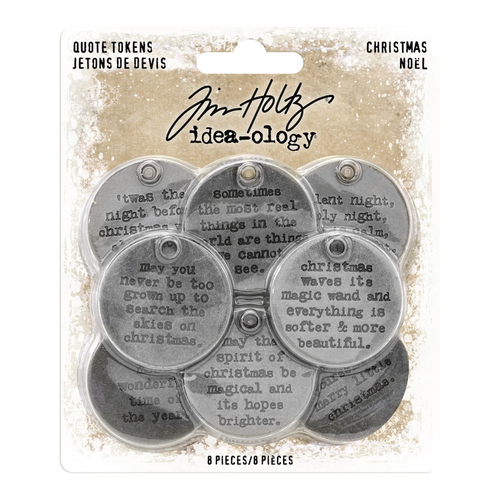 Tim Holtz Idea-ology CHRISTMAS Quote Tokens th93751 zoom image