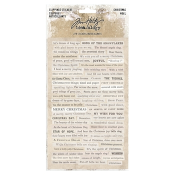 Tim Holtz Idea-ology CHRISTMAS Clippings Stickers Paperie th93754