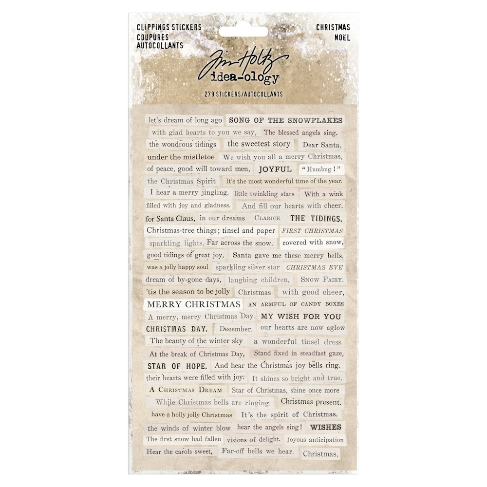 Tim Holtz Idea-ology CHRISTMAS Clippings Stickers Paperie th93754 zoom image