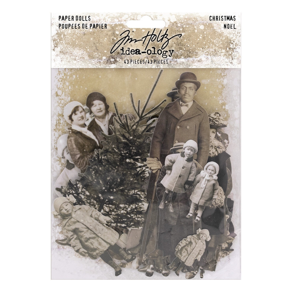 Tim Holtz Idea-ology CHRISTMAS Paper Dolls Paperie th93756* zoom image