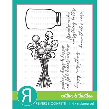 Reverse Confetti COTTON AND THISTLES Clear Stamps