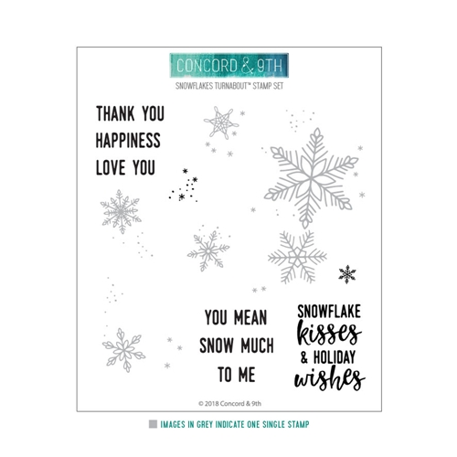Concord & 9th SNOWFLAKES TURNABOUT Clear Stamp 10461 Preview Image