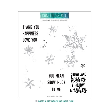 Concord & 9th SNOWFLAKES TURNABOUT Clear Stamp 10461
