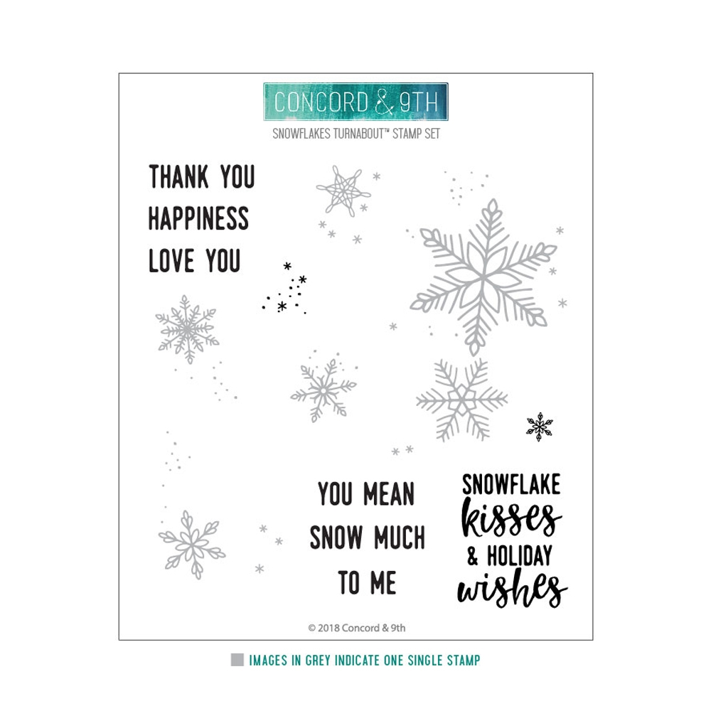Concord & 9th SNOWFLAKES TURNABOUT Clear Stamp 10461 zoom image