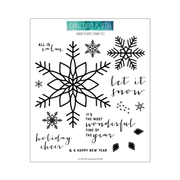 Concord & 9th SNOW FLURRY Clear Stamp Set 10462