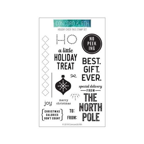 Concord & 9th HOLIDAY CHEER TAGS Clear Stamp Set 10471 Preview Image
