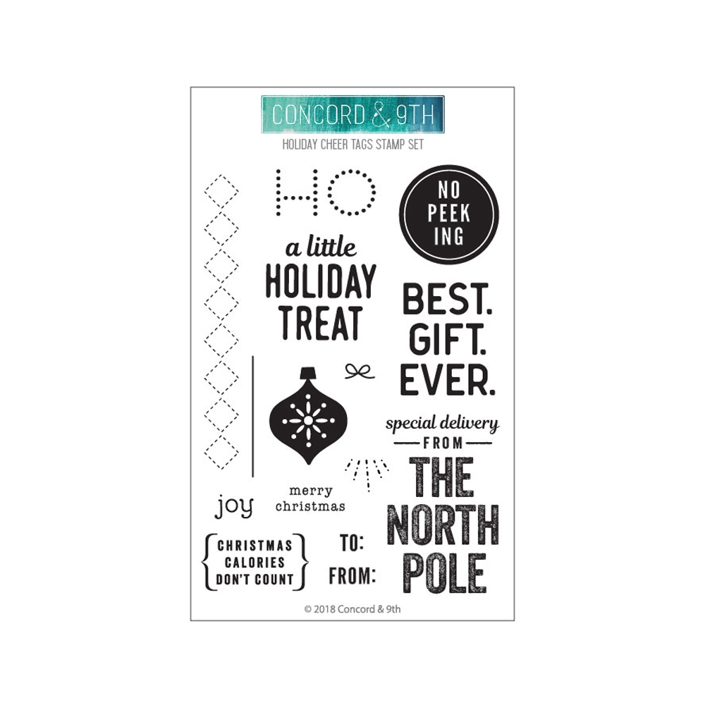 Concord & 9th HOLIDAY CHEER TAGS Clear Stamp Set 10471 zoom image