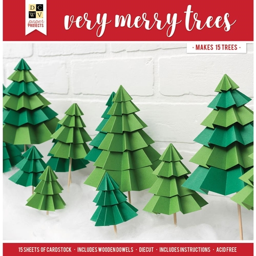 DCWV VERY MERRY TREES Paper Project 614730* Preview Image