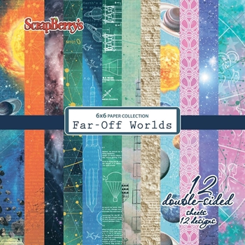 ScrapBerry's FAR OFF WORLDS 6 x 6 Paper Pack scb0409x
