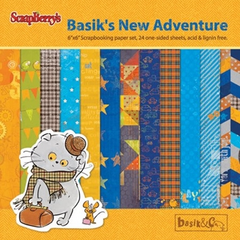 ScrapBerry's BASIK'S NEW ADVENTURE 6 x 6 Paper Pack scb6810x