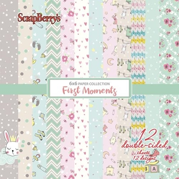 ScrapBerry's FIRST MOMENTS 6 x 6 Paper Pack scb1109x