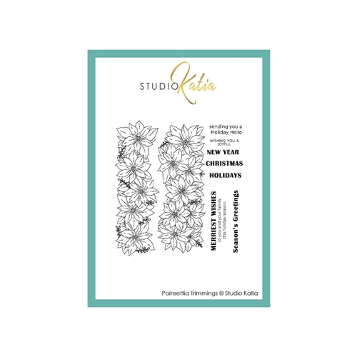 Studio Katia POINSETTIA TRIMMINGS Clear Stamps stks067 Preview Image