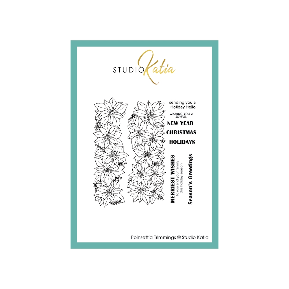 Studio Katia POINSETTIA TRIMMINGS Clear Stamps stks067 zoom image