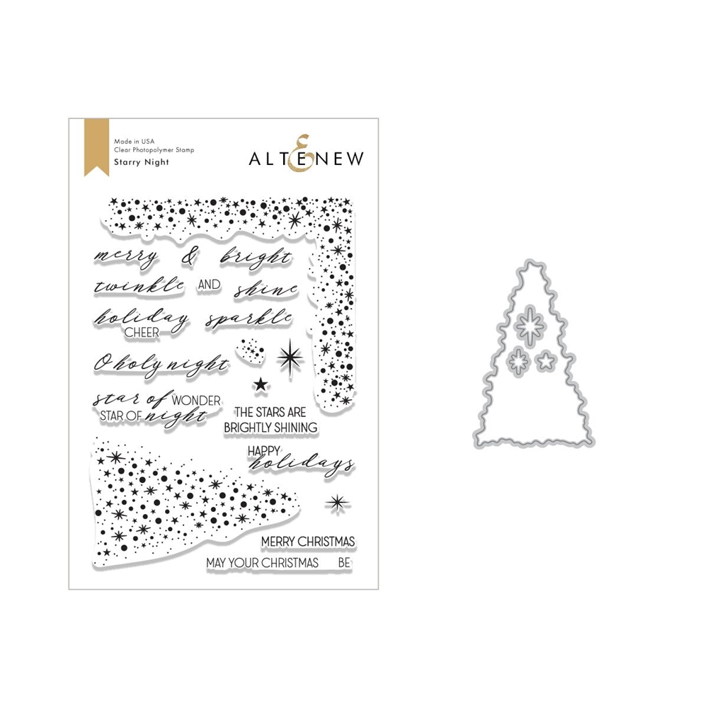 Altenew STARRY NIGHT Clear Stamp and Die Bundle ALT2637* zoom image