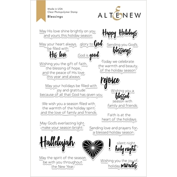 Altenew BLESSINGS Clear Stamps ALT2616*