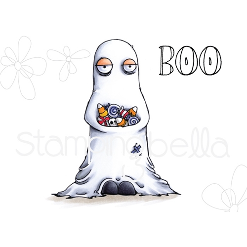 Stamping Bella Cling Stamp ODDBALL GHOST eb724 Preview Image