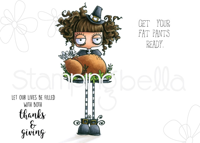 Stamping Bella Cling Stamp THANKSGIVING ODDBALL eb728 zoom image