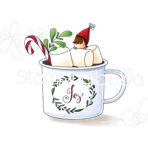 Stamping Bella Cling Stamp TEENY TINY TOWNIE HOT CHOCOLATE eb751 Preview Image