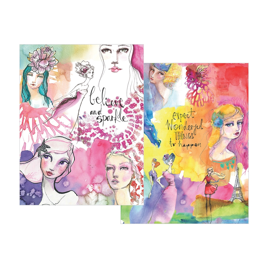 JD-013 Spellbinders WASHI GIRLS Washi Sheets by Jane Davenport zoom image