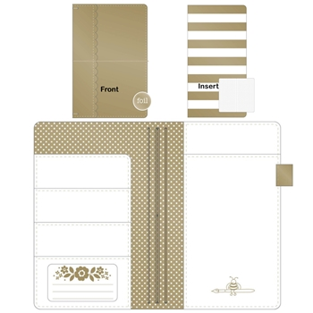 Doodlebug GOLD Daily Doodles Travel Planner 5992*