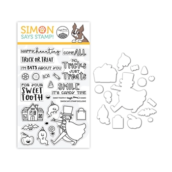 Waffle Flower Clear Stamp and Die Set SWEET TOOTH SR18SETWF STAMPtember Exclusive