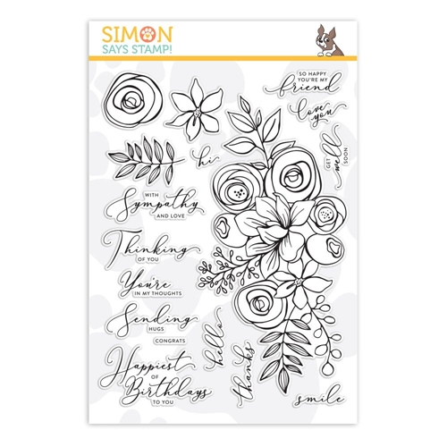 Simon Says Clear Stamps SKETCHED FLOWERS sss101830 Preview Image