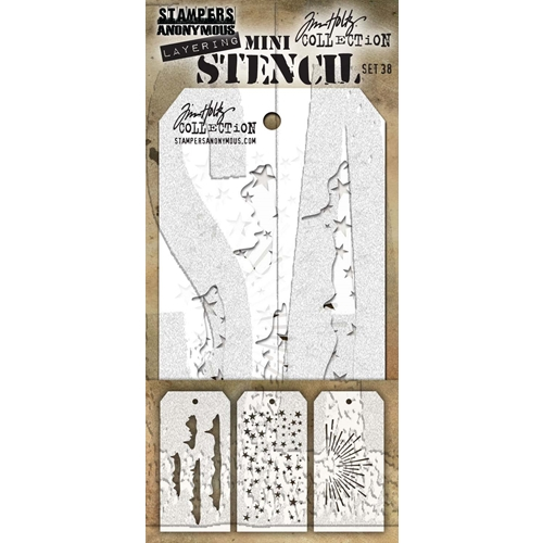 Tim Holtz MINI STENCIL SET 38 MST038 Preview Image