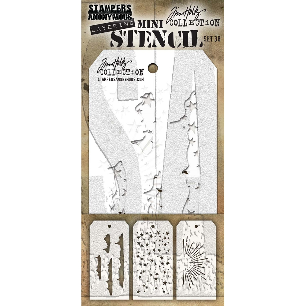 Tim Holtz MINI STENCIL SET 38 MST038 zoom image