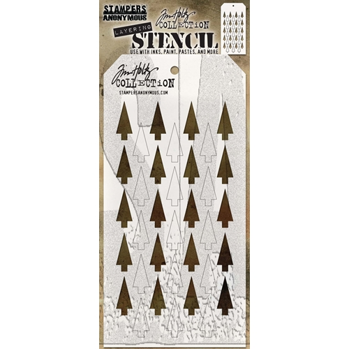 Tim Holtz Layering Stencil SHIFTER TREE THS113 Preview Image