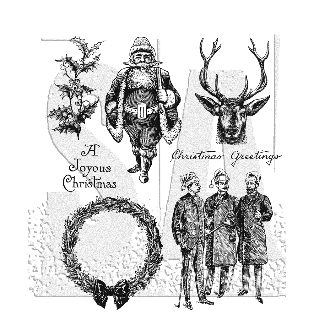 Tim Holtz Cling Rubber Stamps YULETIDE CMS356 zoom image
