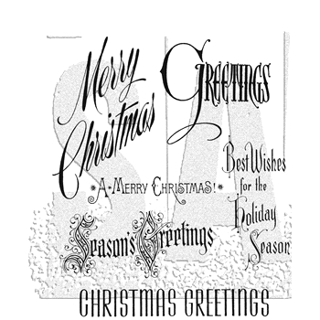 Tim Holtz Cling Rubber Stamps CHRISTMASTIME CMS352