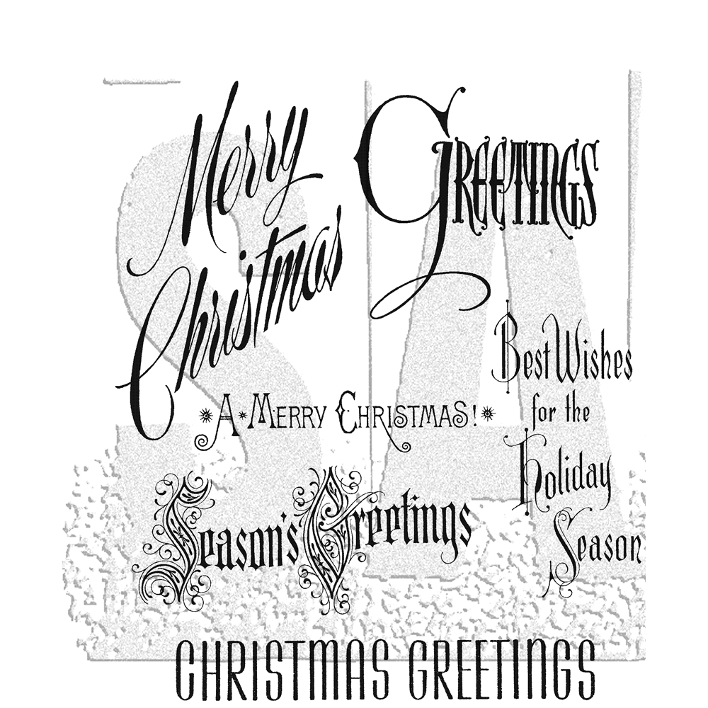 Tim Holtz/Stampers Anonymous Christmastime Cling Stamp Set