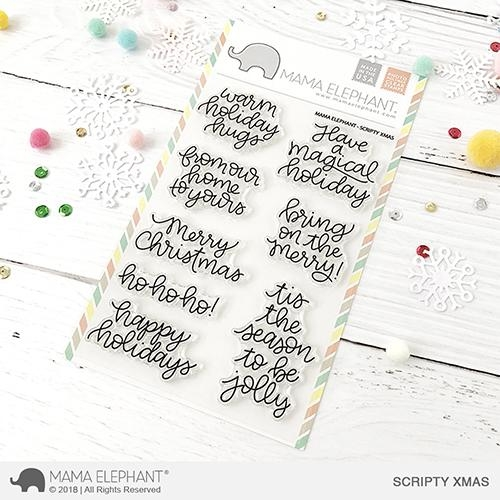 Mama Elephant Clear Stamps SCRIPTY XMAS Preview Image
