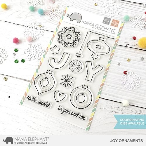 Mama Elephant Clear Stamps JOY ORNAMENTS  Preview Image