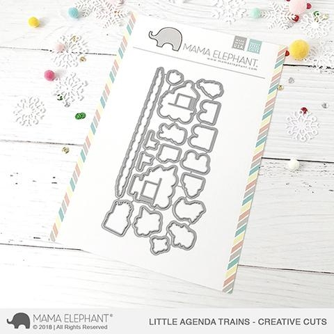 Mama Elephant LITTLE AGENDA TRAINS Creative Cuts Steel Dies Preview Image