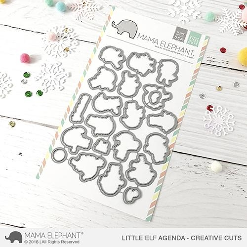 Mama Elephant LITTLE ELF AGENDA Creative Cuts Steel Dies* Preview Image